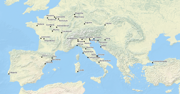Civitates in annalibus regni Francorum