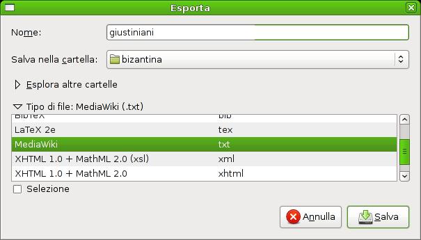 Schermata-Esporta