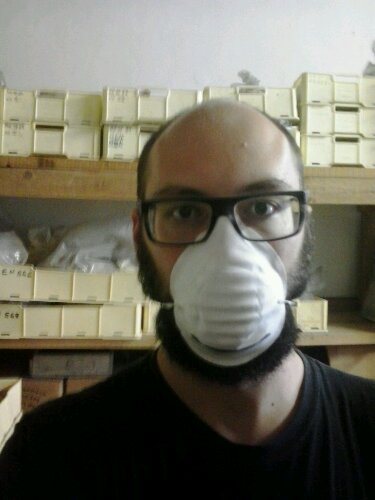 Me with a mask