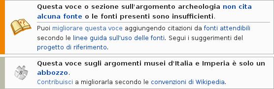 La nota di avviso su una pagina Wikipedia: leggere con attenzione!