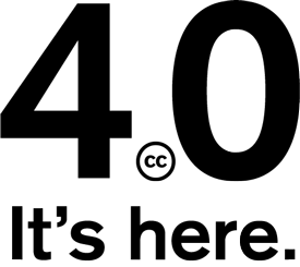 Upgraded to Creative Commons Attribution 4.0 (CC-BY 4.0) license