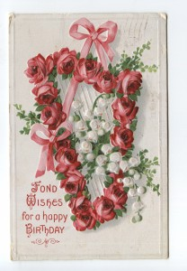 Fond wishes for a happy birthday (postcard from 1910)