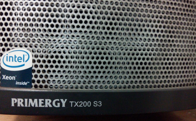 Debian Wheezy on a Fujitsu Primergy TX200 S3