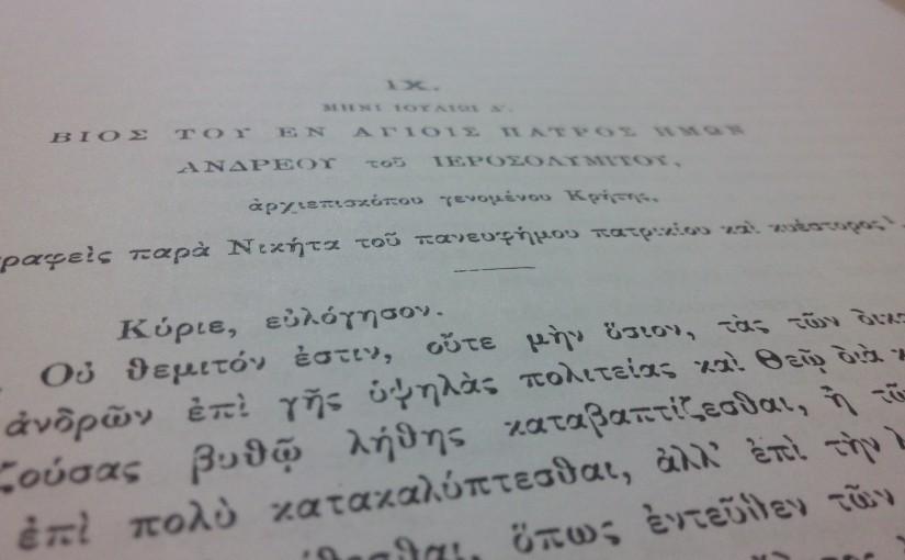The life of Andrew of Crete