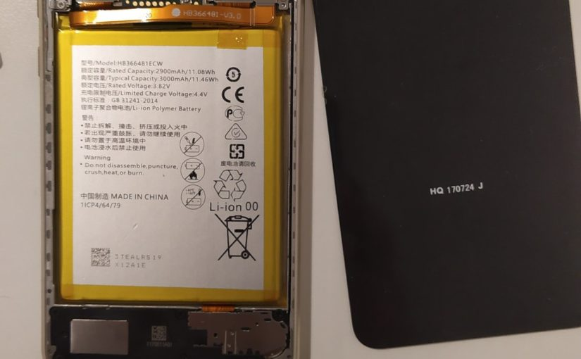 Replacing the battery of Huawei P10 Lite with iFixit